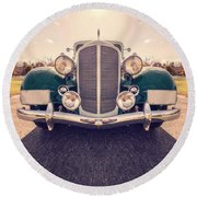 Dream Car Round Beach Towel