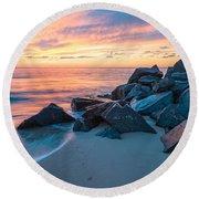 Dream In Colors Round Beach Towel