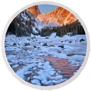 Dream Lake - Rocky Mountain National Park Round Beach Towel