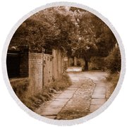 Round Beach Towel featuring the photograph Dream Road by Rodney Lee Williams
