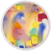 Dreaming In Color Round Beach Towel