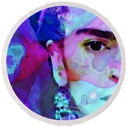 Dreaming Of Frida - Art By Sharon Cummings Round Beach Towel
