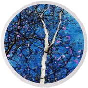 Round Beach Towel featuring the digital art Dreaming Of Spring by David Lane