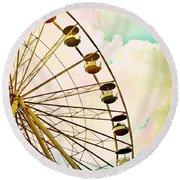 Dreaming Of Summer - Ferris Wheel Round Beach Towel