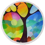 Dreaming Tree Round Beach Towel