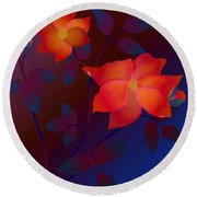 Dreaming Wild Roses Round Beach Towel