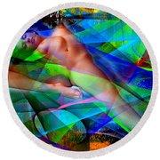 Round Beach Towel featuring the digital art Dreams In Color by Rafael Salazar