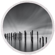 Dreams Of Desolation Round Beach Towel