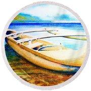 Dreams Of Polynesia Round Beach Towel