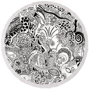 Dreamscape Round Beach Towel by M West