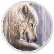 Dreamscape Wolf IIII Round Beach Towel