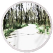 Dreamy Autumn Walk Round Beach Towel
