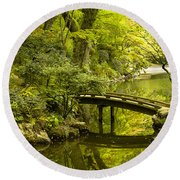 Dreamy Japanese Garden Round Beach Towel
