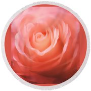 Dreamy Pink Rose Round Beach Towel