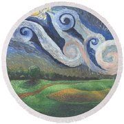 'dreamy Sky' Round Beach Towel