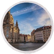 Dresden Frauenkirche Round Beach Towel