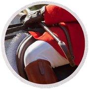 Dressed Rider Round Beach Towel
