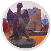 Drexel Dragon Colored Round Beach Towel