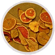 Dried Fruit Round Beach Towel