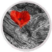Drifting - Love Merging Round Beach Towel