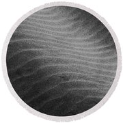 Round Beach Towel featuring the photograph Drifting Sand by Aaron Berg