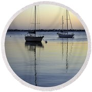 Drifting Sunrise Round Beach Towel