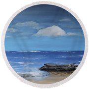Driftwood Round Beach Towel by Dick Bourgault