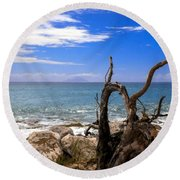 Driftwood Island Round Beach Towel
