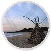 Driftwood Tipi Round Beach Towel