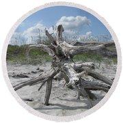 Driftwood Tree Round Beach Towel