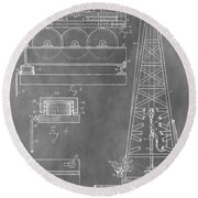 Drilling Rig Patent Round Beach Towel