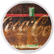 Drink Coca-cola Round Beach Towel by Tikvah's Hope