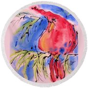 Drizzle Cardinal Round Beach Towel