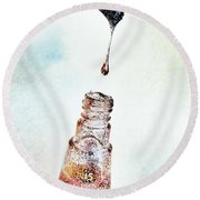 Drop Round Beach Towel