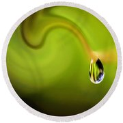 Droplet Ready To Drip Round Beach Towel