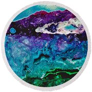 Drops Of Jupiter Round Beach Towel by M West