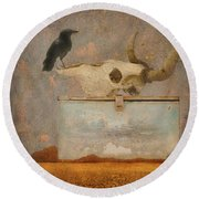 Drought And The Illusion Of Water Round Beach Towel by Jeff Burgess