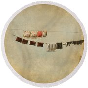 Drying Round Beach Towel by Jeff Burgess