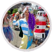 Round Beach Towel featuring the photograph Duality by Ed Weidman