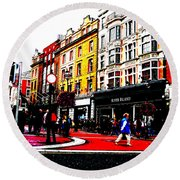 Round Beach Towel featuring the photograph Dublin City Vibe by Charlie and Norma Brock