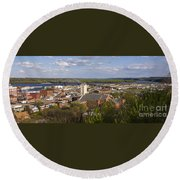 Dubuque Iowa Round Beach Towel