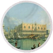 Ducal Palace   Venice Round Beach Towel