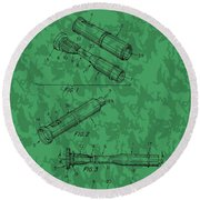 Duck Commander Duck Call Patent Round Beach Towel