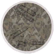 Duck Dynasty Camouflage Patent Round Beach Towel