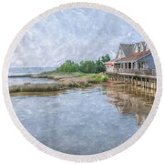 Duck Shops Outer Banks Round Beach Towel