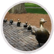 Ducklings Round Beach Towel by Christiane Schulze Art And Photography