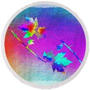 Duet In The Treetops Round Beach Towel