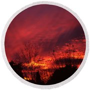 Dundee Sunset Round Beach Towel