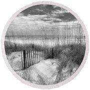 Dune Fences Round Beach Towel