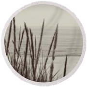 Dune Grass In Early Spring Round Beach Towel